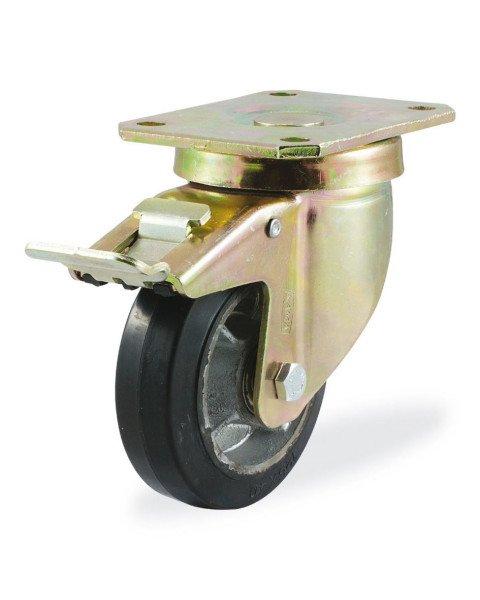 Колёсная опора KAMA 4102-DYR-080-F18 с тормозом