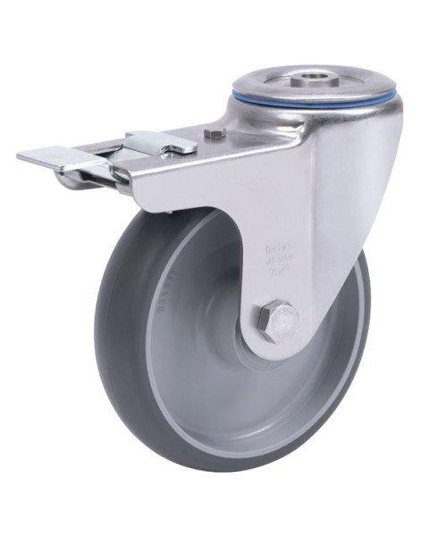 Колёсная опора ALEX A-S-3300-MTB-080-F18 с тормозом