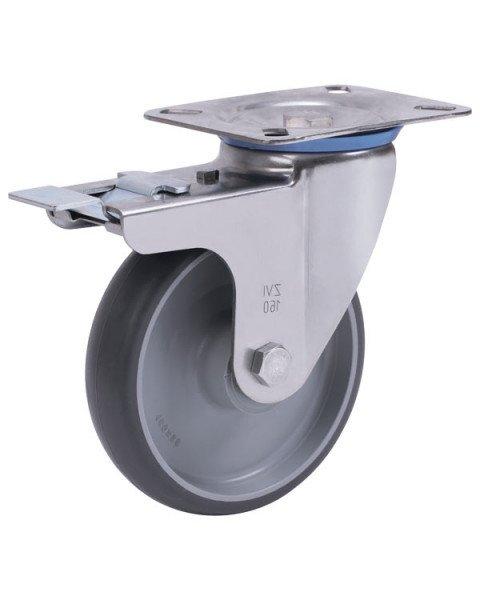 Колёсная опора ALEX A-3302-MTB-160-F18 с тормозом