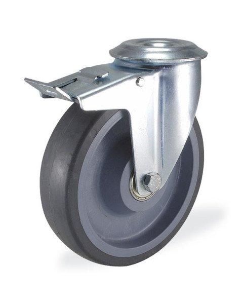 Колёсная опора KAMA 3300-CTR-150-F18 с тормозом
